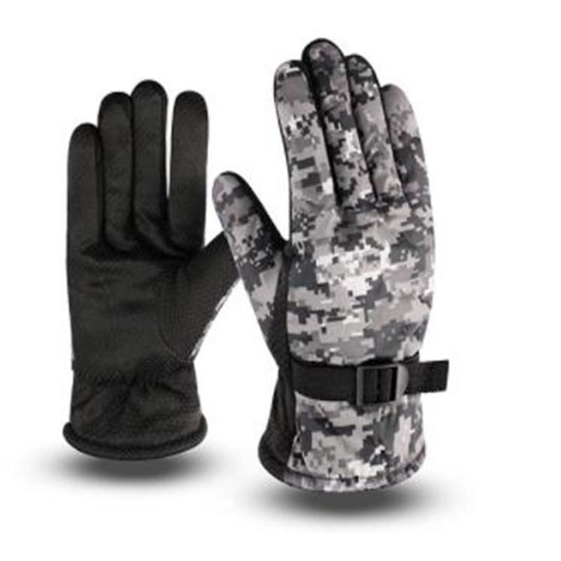 Men In Winter To Keep Warm Gloves Antiskid Motorcycle Riding Bike With Velvet Camouflage Large Cotton Ski Gloves  ST-608