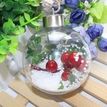8 см прозрачный Рождественский шар светодиодный светильник дерево орнамент пластиковая безделушка рождественские подарки декоративная лампа