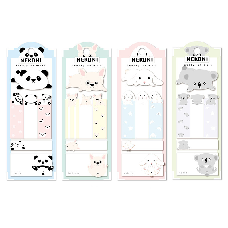 Kawaii Dog Rabbit Short-Term Label  N Times Memo Pad Sticky Notes Escolar Papelaria School Supply Bookmark Label