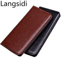 High end real leather flip cover standing case for Meizu MX6/Meizu MX5/Meizu Pro 5 phone bag magnetic flip case phone coque capa