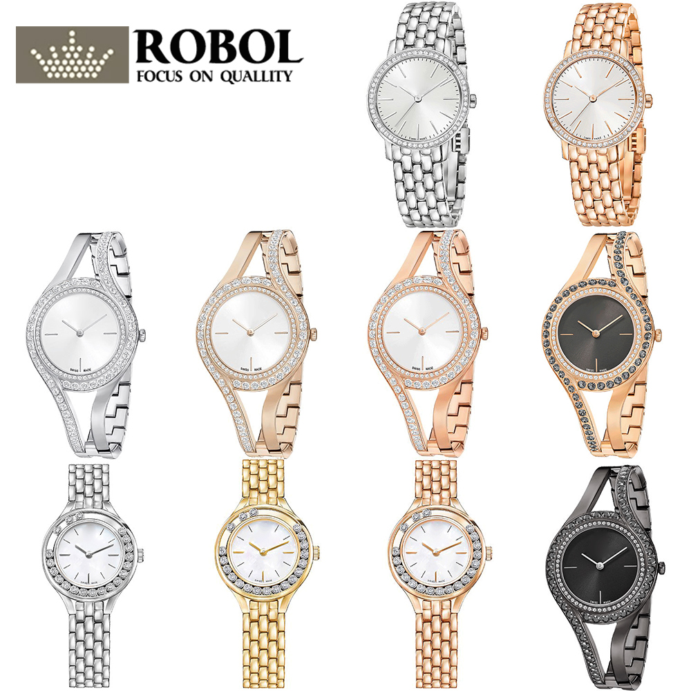 ROBOL High Quality SWA Ladies Ashion Swan Models Alloy Watches Lasting Wear Without Deformation Pictures Please Contact Seller