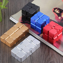 Infinity Metal Cube Antistress Toy Finger Fidget Relaxing Neostyle Toy Gift for Men Women Boy Girl Friends(China)