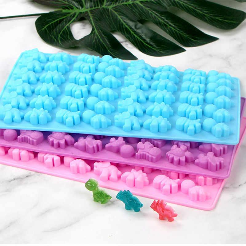 2pc/set 48 Hole Dinosaur Candy Mold Silicone Gummy Mold Mini Dinosaur Silicone Chocolate Molds Ice Cube Tray Candy Foudant Mould
