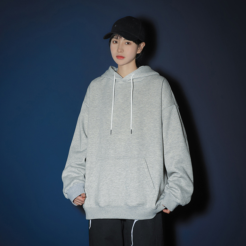 Women's Oversize Hoodies Solid Hooded Sweatshirt Plus Size O-neck Female 2020 Autumn Couple Sweatshirts DIY Customize Print