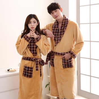 Winter Men Cartoon Flannel Robe Lovers Sleepwear Nightwear Casual Bathrobe Kimono Gown Thick Coral Fleece Intimate Lingerie - DISCOUNT ITEM  36% OFF All Category