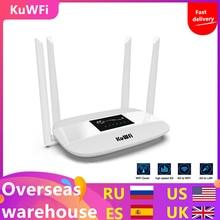 300Mbps Entsperrt 4G LTE Wifi Router, indoor 4G Wireless CPE Router mit 4Pcs Antennen und LAN Port & SIM Karte Slot Bis zu 32 benutzer
