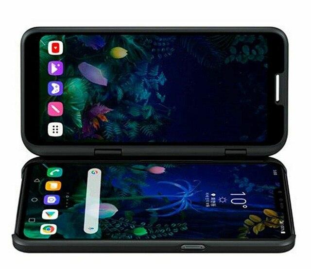 Original unlock LG V50 ThinQ V500N 6.4 inch 4000mAh NFC 5G 6GB RAM 128GB ROM Android Octa Core dual front 3 rear camera 4