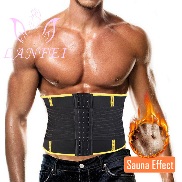 LANFEI Hot Neoprene Waist Trainer Trimmer Belt Body Shaper Sweat Slimming Belt Tummy Control Sport Gym Corset Fat Burner Girdle