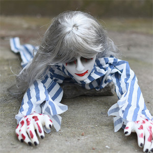 Image 4 - Украшение на Хэллоуин, ползающий призрак, электронная игрушка, реквизит ужаса, женщина, дьявол, домашний клуб, бар, дом с привидениями, вечерние украшения