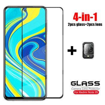цена на 4-in-1 For Xiaomi Redmi Note 9S Glass 8T 7 8 T 9 Pro 10 Lite Tempered Glass Camera Lens Screen Protector Glass Redmi Note 9 Pro