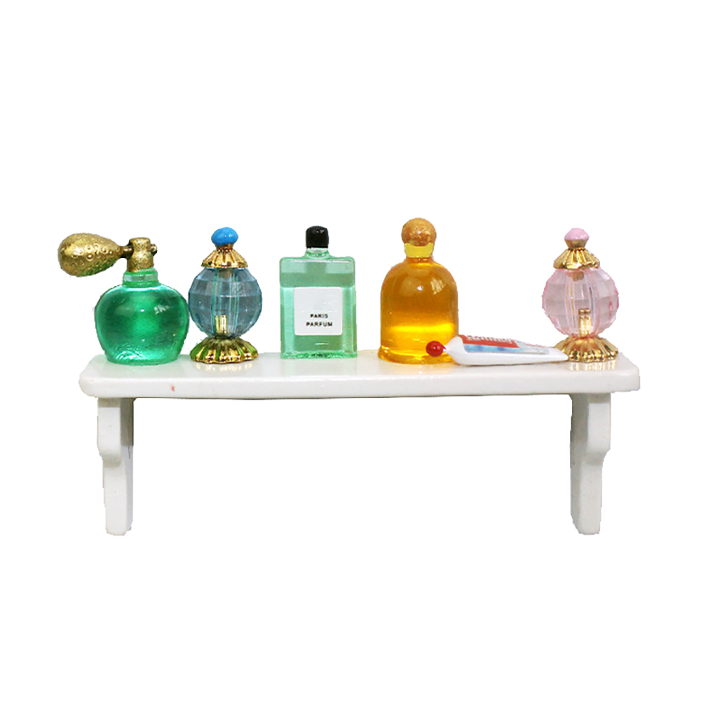 1/12 Dollhouse Miniature Accessories Alloy Mini Perfume Rack Set Simulation Furniture Model Toys For Dolll House Decoration