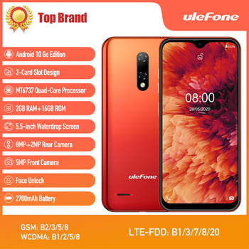 New Ulefone Note 8P Smartphone Android 10 Go 4G LTE Phone Waterdrop Screen Quad Core 2GB+16GB 5.5-inch Dual SIM Face Unlock - discount item  48% OFF Mobile Phones