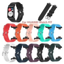 Durable Texture Silicone Wristband Strap Watch Band for Huawei Watch Fit Watch