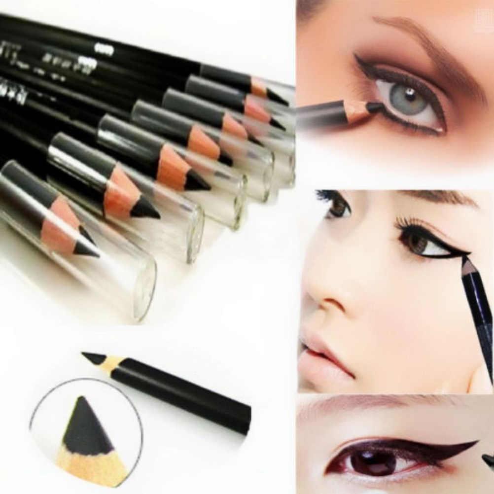 1 Lápiz Delineador de ojos, Lápiz Delineador de ojos negro con vitamina E de Aloe Vera, herramientas cosméticas para maquillaje, lápices delineadores de ojos lisos