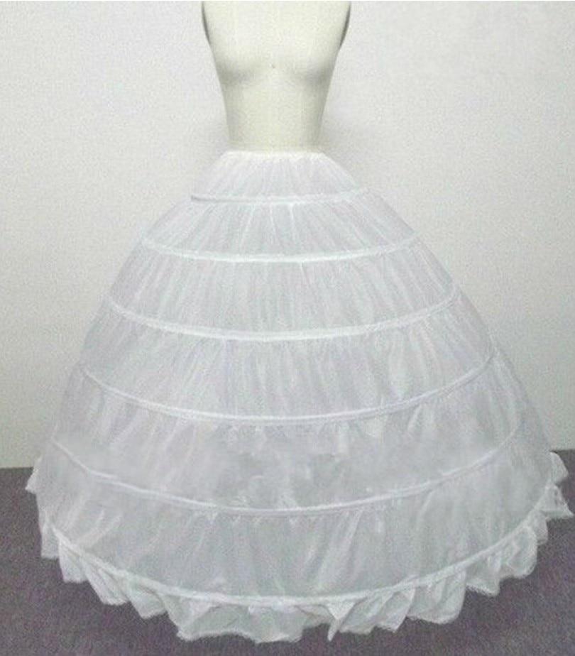 Image 2 - Wedding Accessories Petticoat Vestido Longo Ball Gown Crinoline Underskirt 6 Hoops Skirt Petticoats In Stock-in Petticoats from Weddings & Events