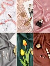 イン写真撮影の背景人工シルクシルケット布スタジオ撮影素材背景化粧品リングジュエリー
