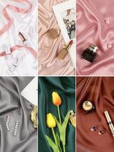 Fondos de fotografía INS, seda Artificial, tela mercerizada, estudio de fotografía, fondo de Material para anillo cosmético, joyería