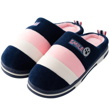 2019 Winter couples cotton slippers handbag with indoor warm autumn antiskid lovely home Mixed Color shoes man and woman 1