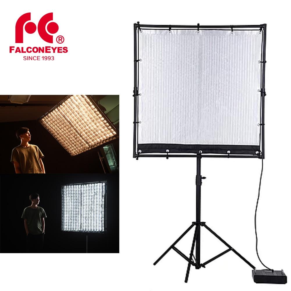 Falcon Eyes RX-120TDX 120 X 120cm  600W ROLL-Flex LED Light 3000K - 5600K Bi-Color LED Photo Light With Honeycomb Grid Softbox