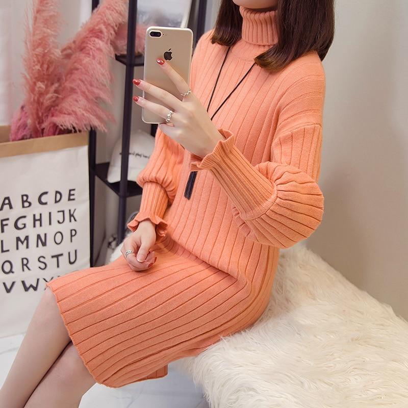 Autumn Maternity Sweaters Dress