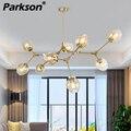Современный подвесной светильник в скандинавском стиле  4 цвета  стеклянный подвесной светильник  золотой  черный корпус  подвесной светиль...