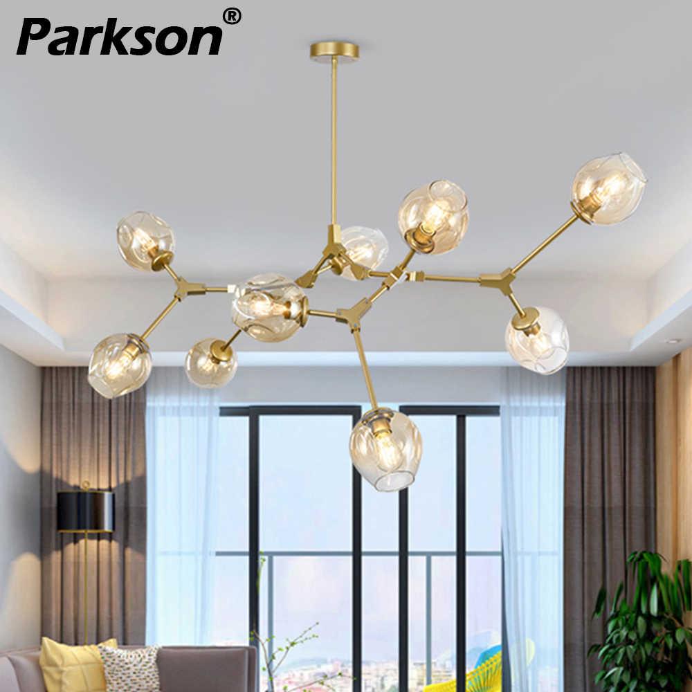 Скандинавские современные подвесные светильники 4 цвета стеклянный подвесной светильник золотой черный кулон Вручая лампа художественное украшение свет для промышленного