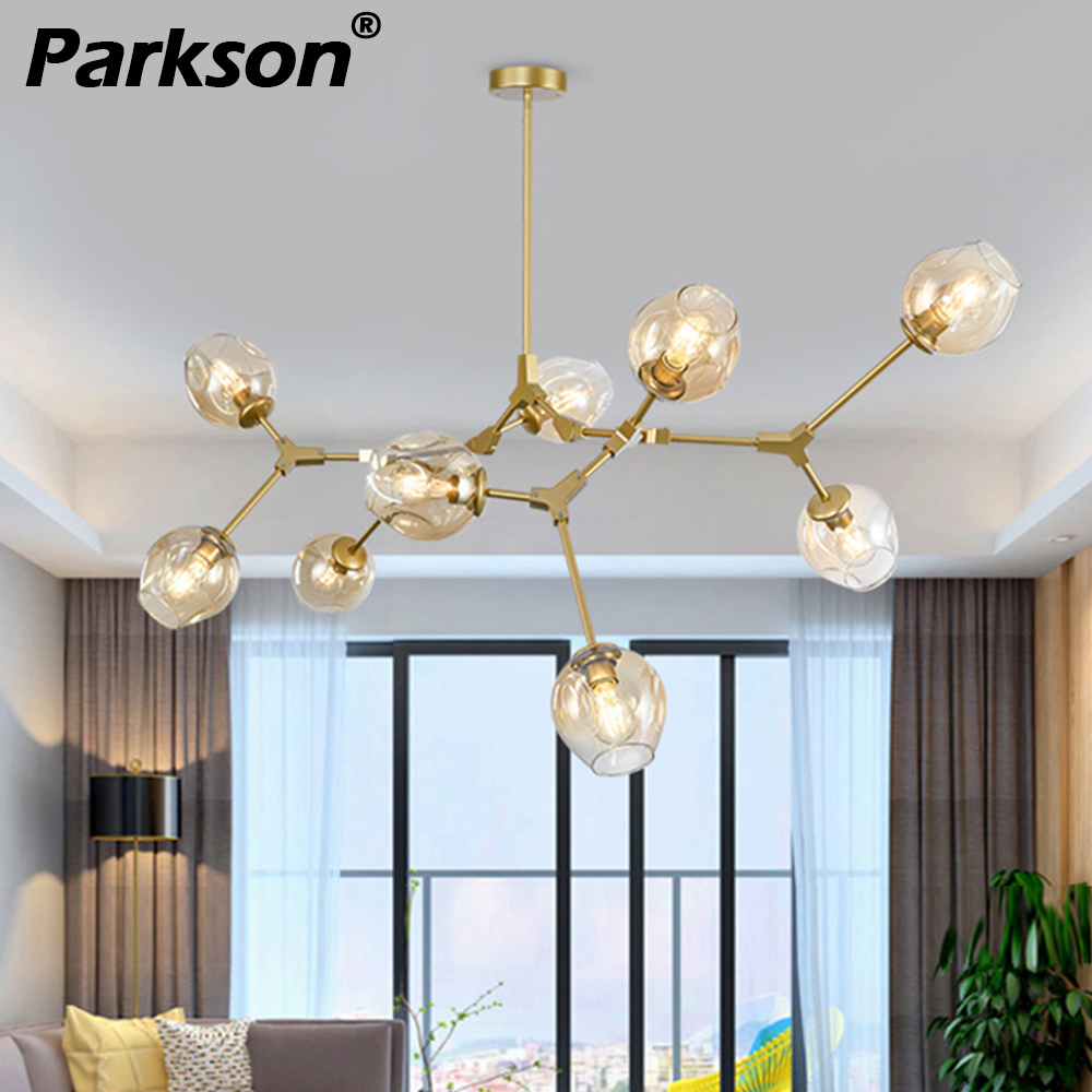 Nordic Modern Pendant Lights 4 Colors Glass Hanglamp Gold Black Body Pendant Handing Lamp Art Decoration Light For Industrial