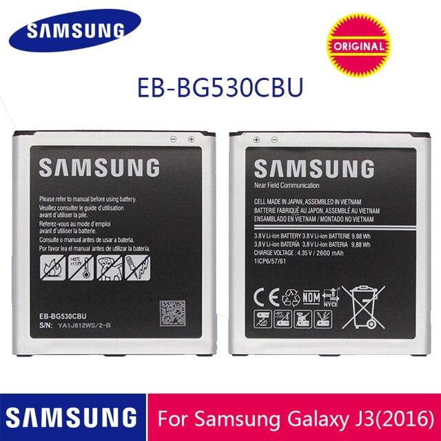 Оригинальный аккумулятор для телефона SAMSUNG, аккумулятор для Galaxy Grand Prime J3 2016, G530, G531F, G530H, G530F, с поддержкой NFC, 2600 мА/ч, с аккумулятором на весь телефон, с зарядным устройством