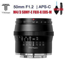 TTartisan 50mm F1.2 APS-C Lens Large Aputure Portrait Lens for SONY E FUJI X Canon EOS M M4/3 mount cameras