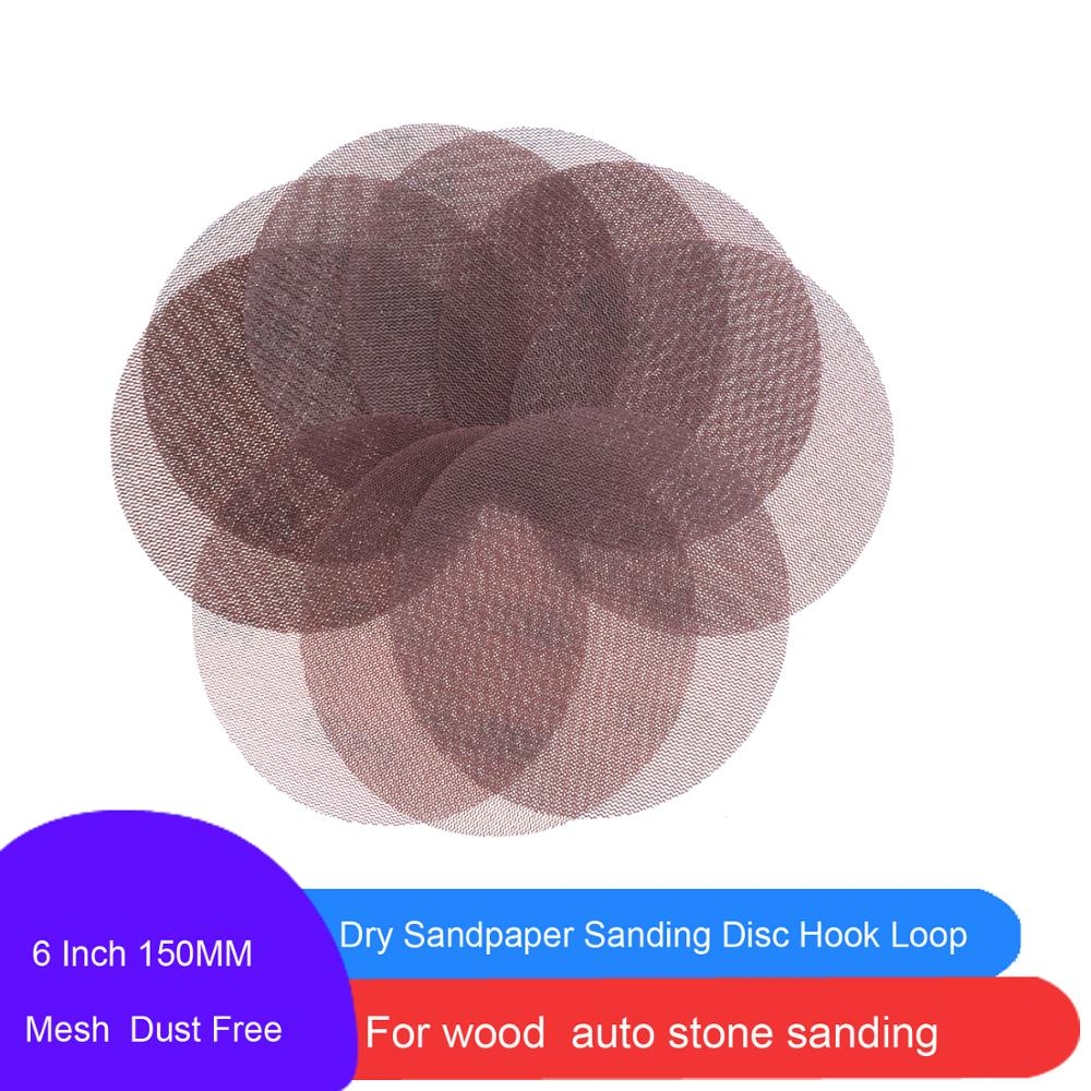 30 pièces 6 pouces 150MM maille disques de ponçage crochet et boucle abrasif sans poussière Anti-blocage Sharp meulage papier de verre pour voiture bois pierre