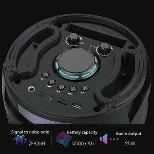 Image 4 - HYASIA Altoparlante Portatile Senza Fili Grande 30W di Potenza pesante 4500mAh Stereo sistema audio basso Bluetooth Soundbar di Sostegno FM USB TF Aux