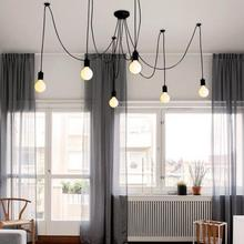 simple modern pendant light led e27 loft country wooden hanging lamp with 11 colors for home dining room restaurant parlor cafe AC 110-220V E27 Base LED Pendant Lamp Simple Modern Style Hanging Light For Home Cafe Bar Hallway With 10 Lamp Heads