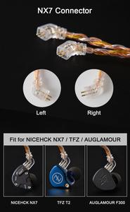 Image 5 - NICEHCK C16 2 16 Core Copper Silver Mixed Cable 3.5/2.5/4.4mm Plug MMCX/2Pin/QDC/NX7 Pin For LZ A7 ZSX V90 TFZ NX7 MK3/DB3 BL 03