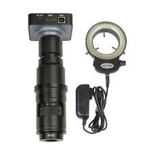 Full HD 38MP 1080P 2K 60FPS HDMI USB Electronic Video Microscope Camera 10X 300X Full Focus Zoom C Mount Lens for Welding Repair