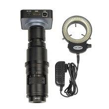 Full HD 38MP 1080P 2K 60FPS HDMI USB caméra de Microscope vidéo électronique 10X 300X Zoom complet objectif c mount pour la réparation de soudage