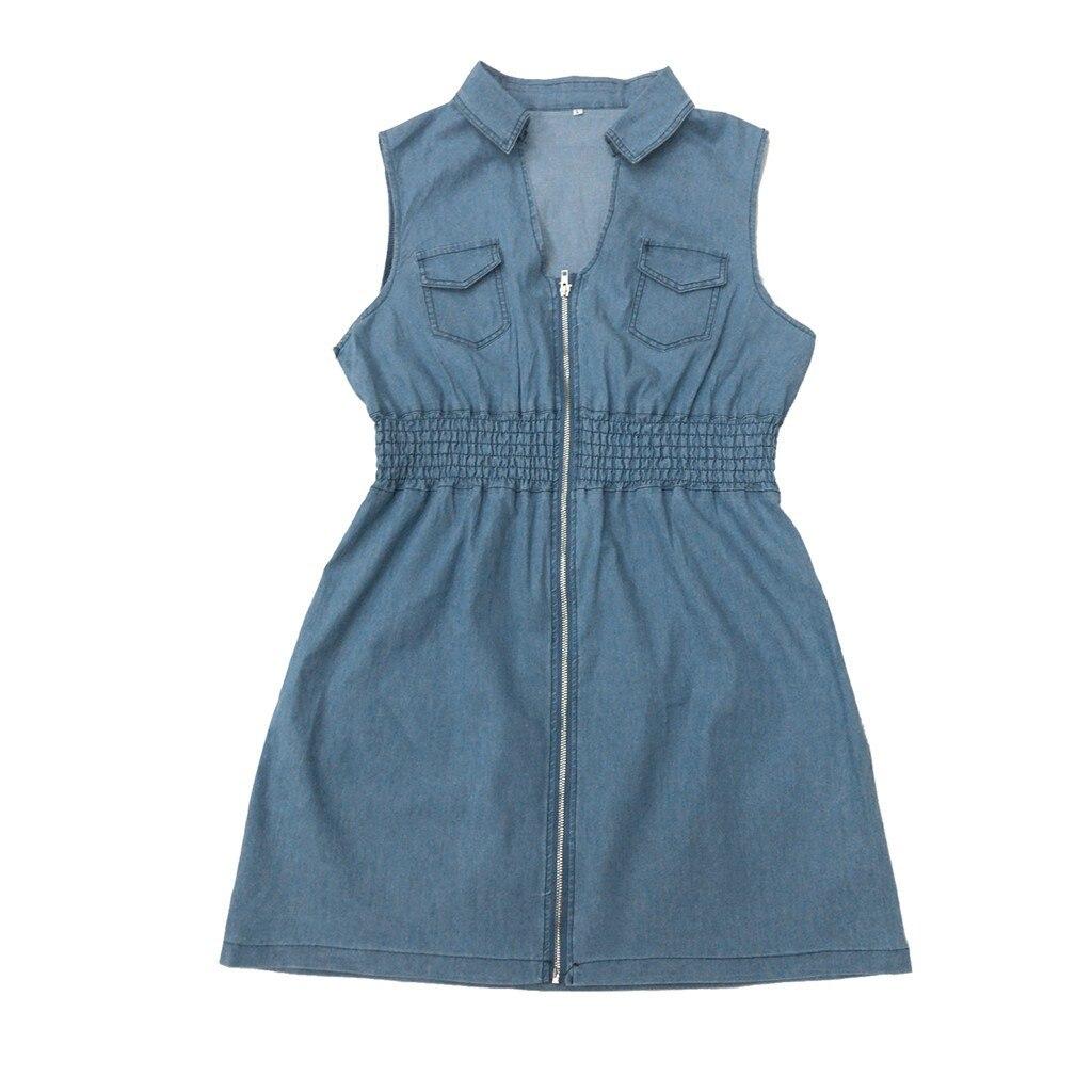 denim vestido mini jeans vestido elbise robe t3g 03