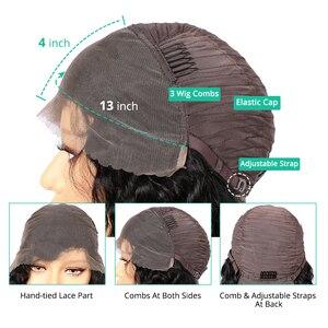Pelucas de pelo humano con encaje Frontal de 13x4 Yaki para mujeres negras predesplumadas pelucas brasileñas Remy de 150 densidad