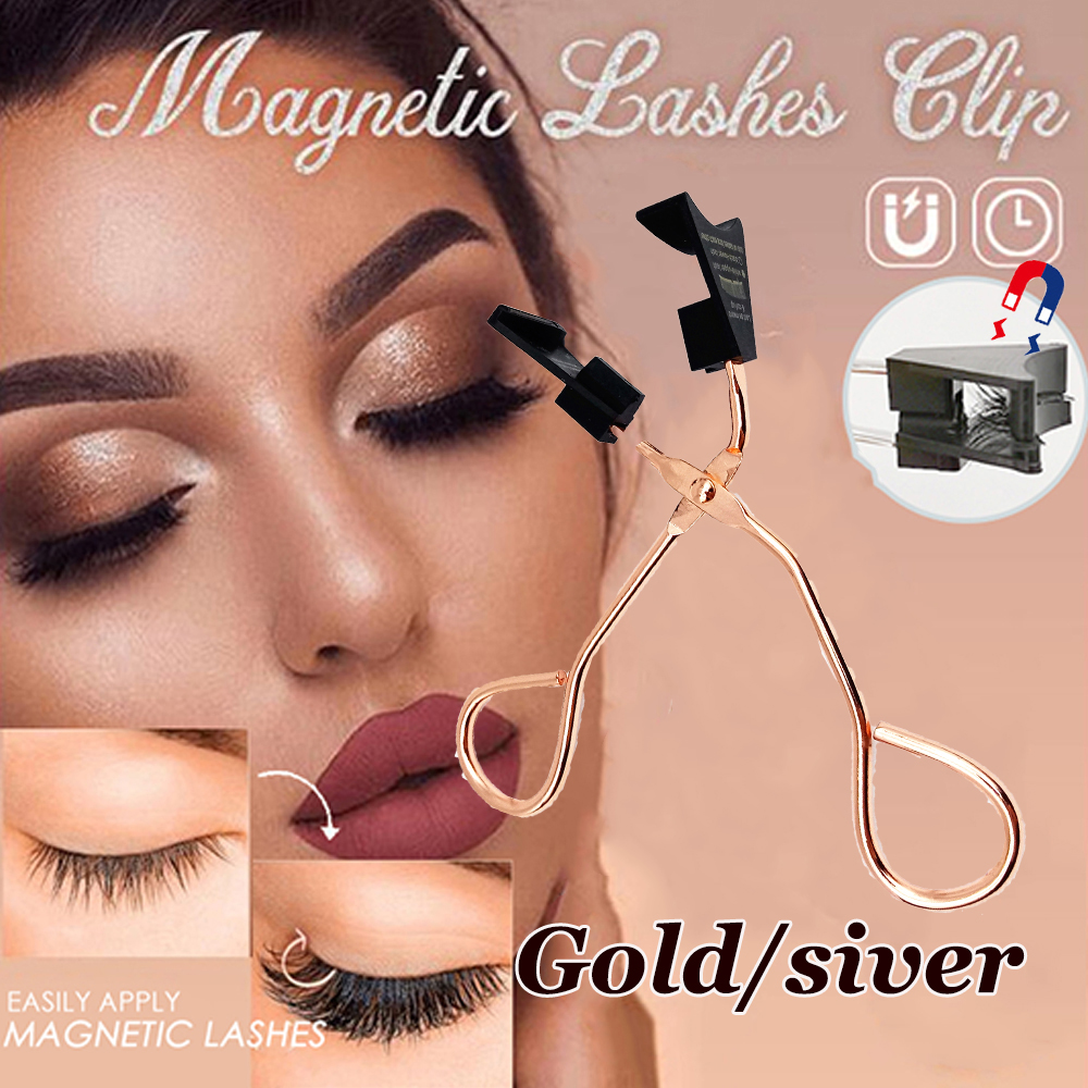 2020 New 2-in-1 Lasher Magnetic Lashes Clip Gold/Silver Beauty Tool Eye Lashes Magnetic Lashes Curler Magnetic Applicator Tool