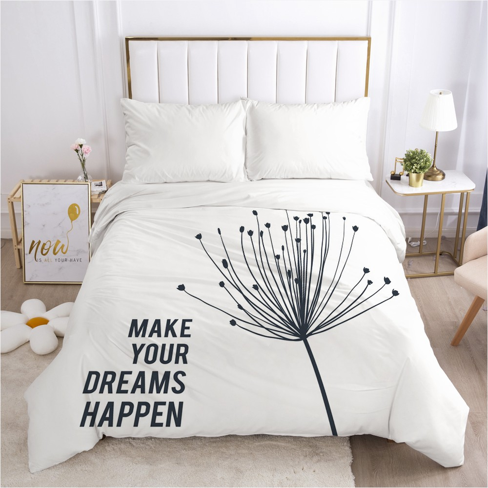 1PCS 3D Duvet Cover With Zipper Comforter/Quilt/Blanket Cover 210x210 140x200 3D Nordic Bedding Customize Any Size Design