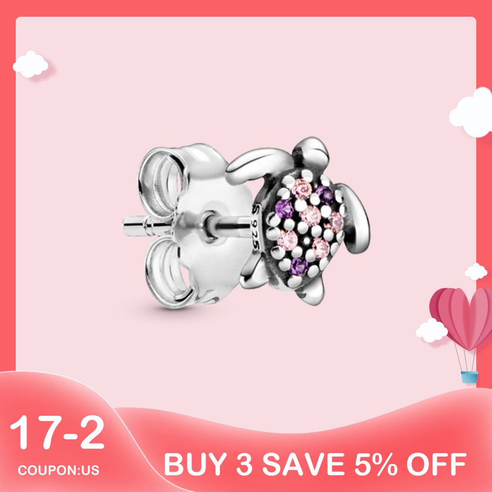 1 Piece 925 Sterling Silver 2020 Summer New Turtle Stud Earrings for Women Me Series Smile Eye Star and Moon Ear Stud Pendientes