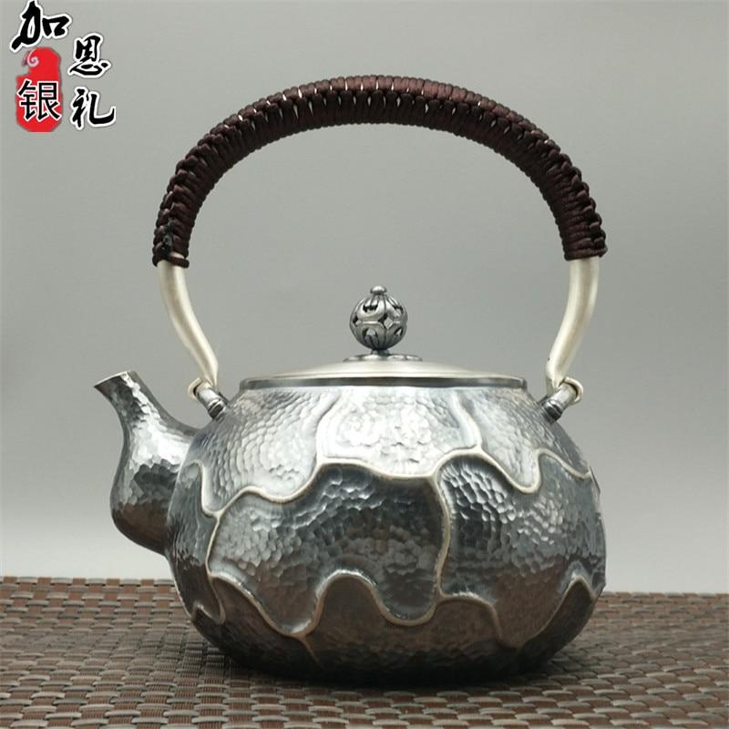 Teapot, portable kettle, silver teapot, hot water 800ml water, Kung Fu tea set.