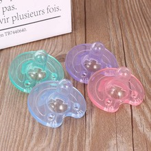 Lovely Newborn Baby Orthodontic Dummy Pacifier Transparent Infant Kids Food Grade Safety Silicone Teat Nipple Soother Pacifier 0 3y silicone transparent infant pacifier newborn soother teether silicone pacifier care feeding food grade silicone with box