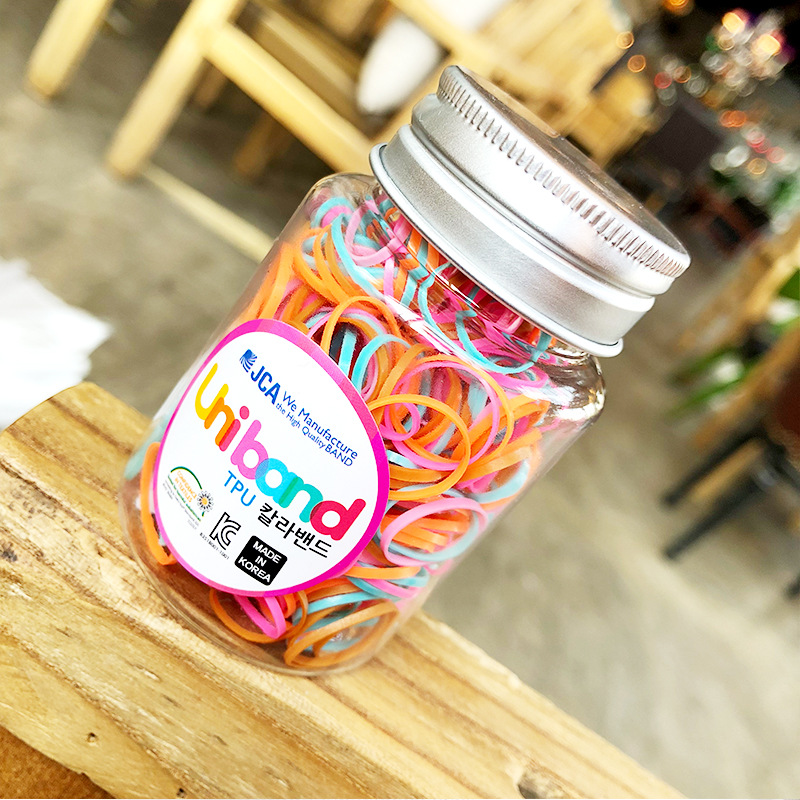 200PC/80PC Korean Children's Series Candy Color Girls Rubber Elastic Hair Bands Hair Accessories HeadWear