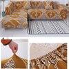 Living room corner sofa cover Stretch printed sofa cover L type combination stretch sofa cover 1/2/3/4 cushion cover