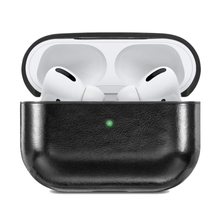 Leather Earphone Case Cover,Compatible for  Pro Front LED Visible Shockproof Drop-Proof Dust-Proof,Black