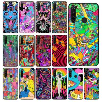 YNDFCNB Colourful Psychedelic Trippy Art Soft Black Phone Case for Xiaomi Redmi 5 5Plus 6 6A 4X 7 8 Note 5 5A 7 8 8Pro image