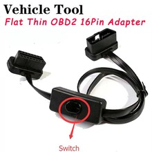 Switch Noodle Cable OBD2 Extension Cable OBD2 16Pin Male To 16Pin Female OBD II Connector for OBD2 Diagnostic Tool ELM327 Cable