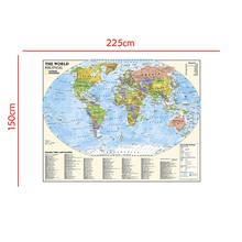 The World Physical Non-woven Map with Country Index And location and Key To Feature For Culture Education 150x225cm