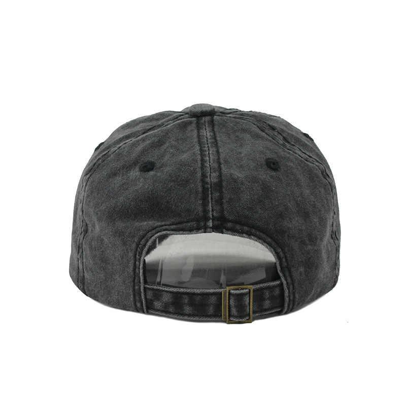 Pria Bisbol Cap Kapas Surat Bordir Topi Wanita Dicuci Topi Ayah Topi Unisex Kasual Casquette Topi