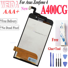 WEIDA For Asus Zenfone 4 A400CXG LCD Display Touch Screen Digitizer Sensor Assembly with Frame +Tool A400CG LCD стоимость